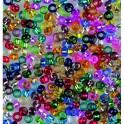 Rocailles 3,5mm mit Silbereinzug farbig sortiert