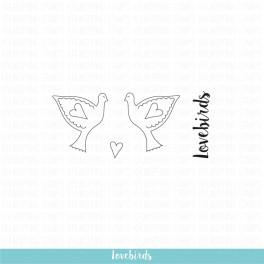 """Motivstempelset """"Lovebirds"""""""