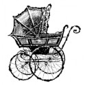 """Motivstempel """"Baby Carriage"""""""