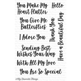 "Motivstempel ""You Give Me Butterflies"""