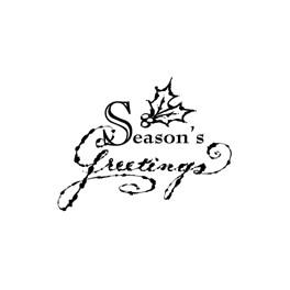 "Motivstempel ""Seasons Greetings"""