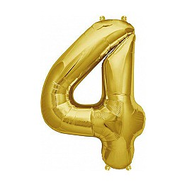 "Folienballon gold ""4"""