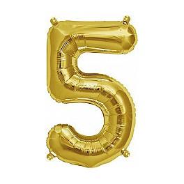 "Folienballon gold ""5"""