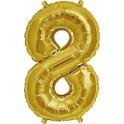 "Folienballon gold ""8"""