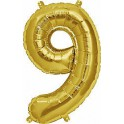 "Folienballon gold ""9"""