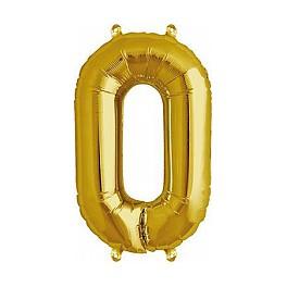 "Folienballon gold ""0"""