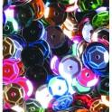 Pailletten rund gewölbt, farbig sortiert