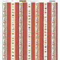 Designpapier Plätzchen Streifen
