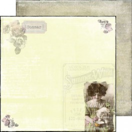 "Designpaper Rose Garden ""Summer Wind"""