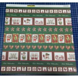 Designpapier Frohe Weihnachten