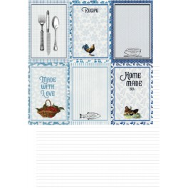 """Designpaper New England Collection """"Recipe Cards"""""""