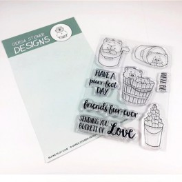 "Clear Stamp Set ""Buckets of Love"""