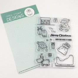 "Clear Stamp Set ""Up On the Housetop"""