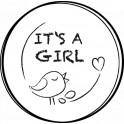 NIO Stempelmotiv It´s a Girl - Bird