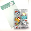 """Clear Stamp Set """"Christmas Puppies"""""""