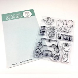 "Clear Stamp Set ""Go Wild"""