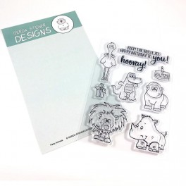 "Clear Stamp Set ""Party Animals"""