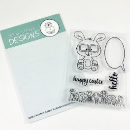 """Clear Stamp Set """"Nerdy Easter Bunny"""""""
