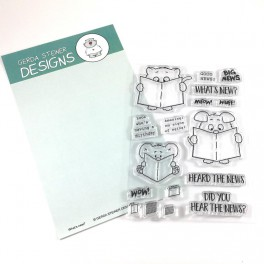 "Clear Stamp Set "" What's new?"""