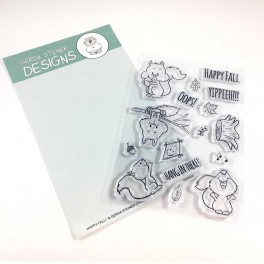 "Clear Stamp Set ""Happy Fall with Squirrel"""