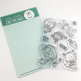 "Clear Stamp Set ""Peeking Friends"""