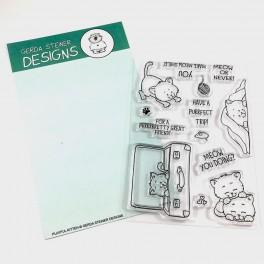 "Clear Stamp Set "" Playful Kitten"""