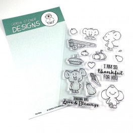 """Clear Stamp Set """"Fall Mice"""""""