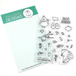 "Clear Stamp Set "" Hello Spring"""