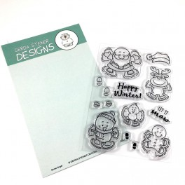 "Clear Stamp Set ""Snow Angel"""
