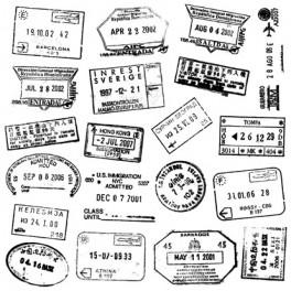 "Motivstempel Cover-a-Card ""Passport Stamps"""