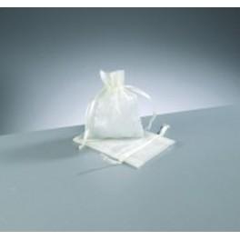 Organza Beutel mini weiß