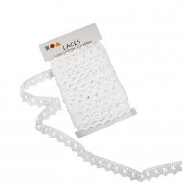 Häkelborte 19mm weiß