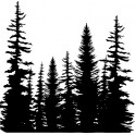 """Motivstempel Cover-a-Card """"Pine Trees"""""""
