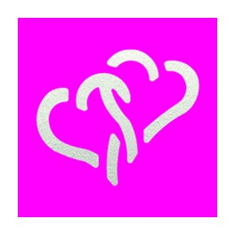 Motivlocher Medium Zwei Herzen