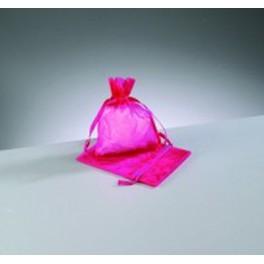 Organza Beutel mini pink