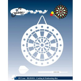 By Lene Metal Dies Dartboard & Arrows