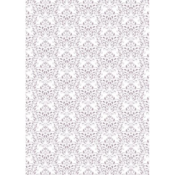 basic collection papier a4 vintage lilac damask stempell dle der bastelmarkt. Black Bedroom Furniture Sets. Home Design Ideas