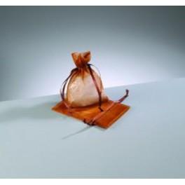 Organza Beutel mini kupferbraun