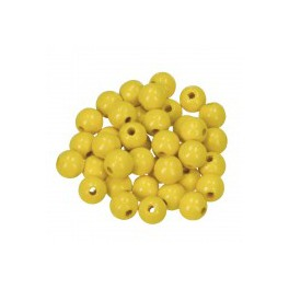 Holzperlen 8mm gelb