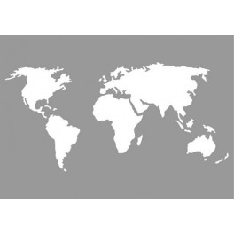 Pronty Mask stencil - World Map