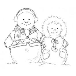 "Motivstempel ""Snow Snuggles"""