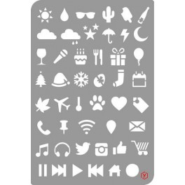 Pronty Bullet Journal Stencil Icons