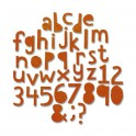 "Schneideschablone Thinlits ""Alphanumeric Cutout Lower"" Tim Holtz"