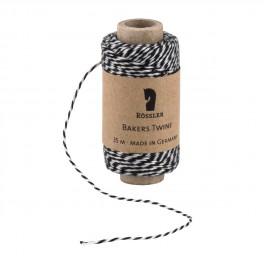 Bakers Twine/ Baumwollschnur schwarz weiß