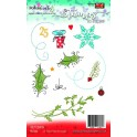 Polkadoodles Holly Flourish Clear Stamp