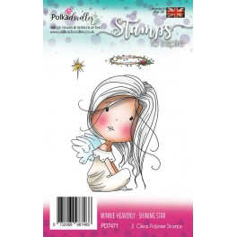 Polkadoodles Winnie Heavenly Shining Star Clear Stamp