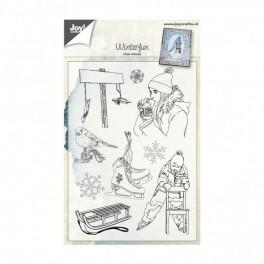 "Clear stamps ""Winterfun"""