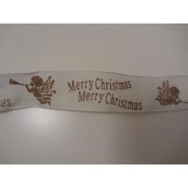 Dekoband Weihnachten creme 38mm