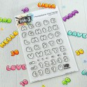 Inkon3 Clear  Stamps Phat Alphanumeric