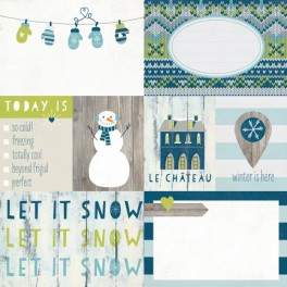 "Simple Stories Paper ""Snow Fun Elements 1"""